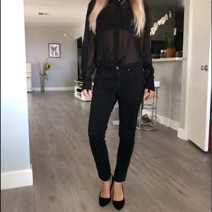 Rag & bone black skinny soft jeans